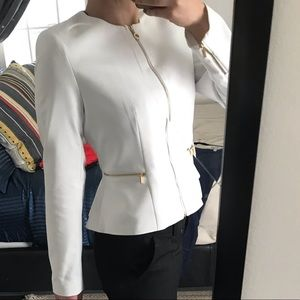 Original Calvin Klein Chic White Dress Jacket